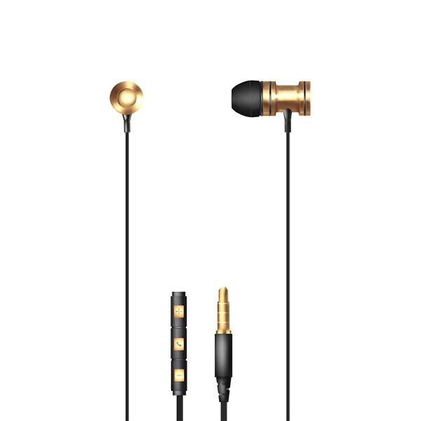 Auriculares con micrófono np-j673 – dorado 2