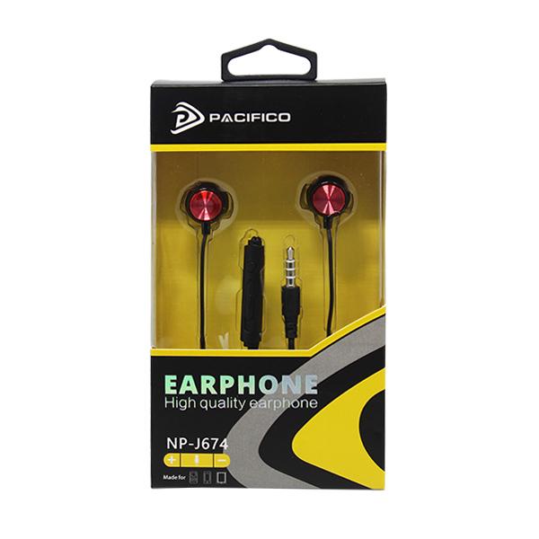 Auriculares con micrófono np-j674 – rojo 3