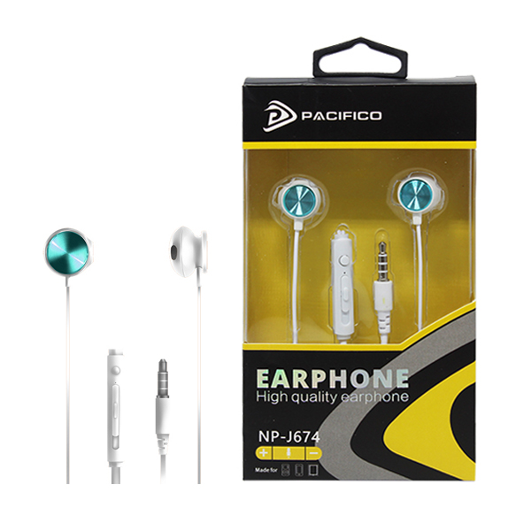 Auriculares con micrófono np-j674 – azul 1