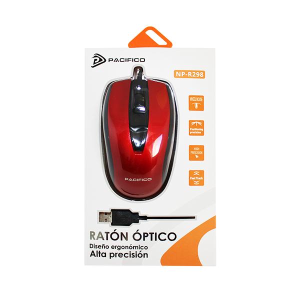 Ratón np-r298 rojo 2