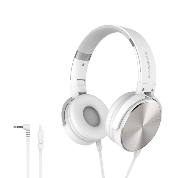 Cascos con microfono np-j832 blanco 1