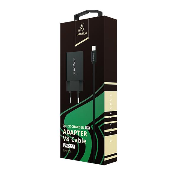 Cargador micro usb/v8 - negro - gama premium tp-c008 3