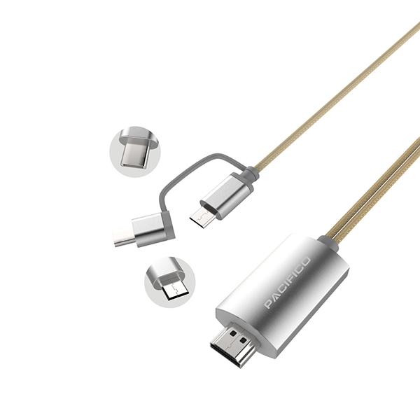 Cable hdmi – tipo c ó v8 con bluetooth np-hd808 3