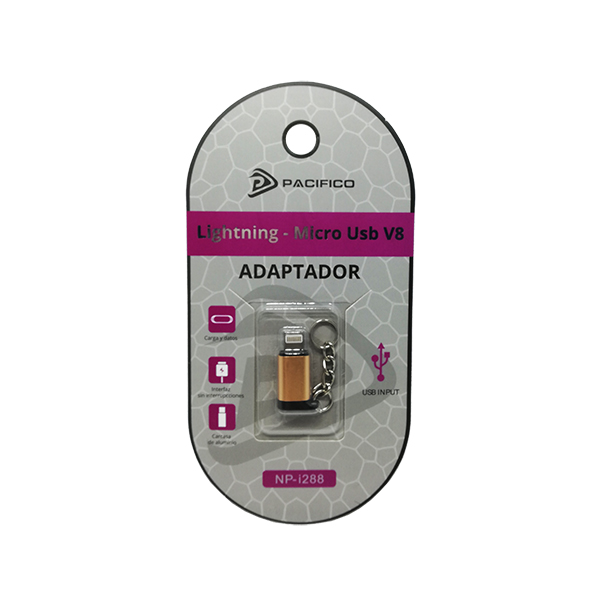 Mini adaptador de micro usb v8 – iphone np-i288 dorado 3