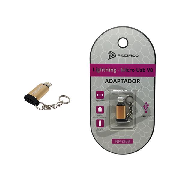 Mini adaptador de micro usb v8 – iphone np-i288 dorado 1