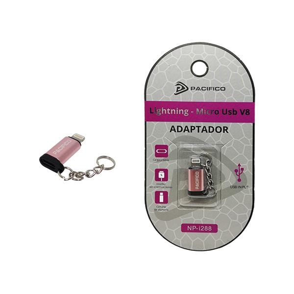 Mini Adaptador de Micro Usb V8 – Iphone NP-i288 Rosa 1