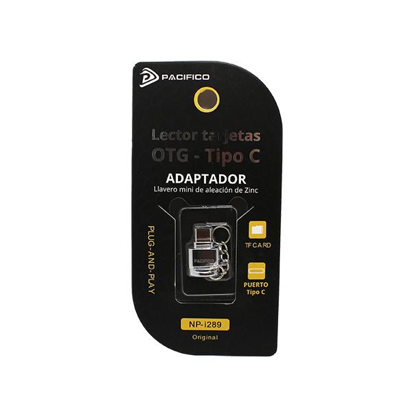 Mini adaptador: lector tarjetas a tipo c np-i289 3