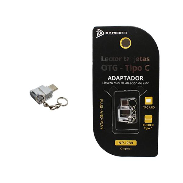 Mini adaptador: lector tarjetas a tipo c np-i289 1