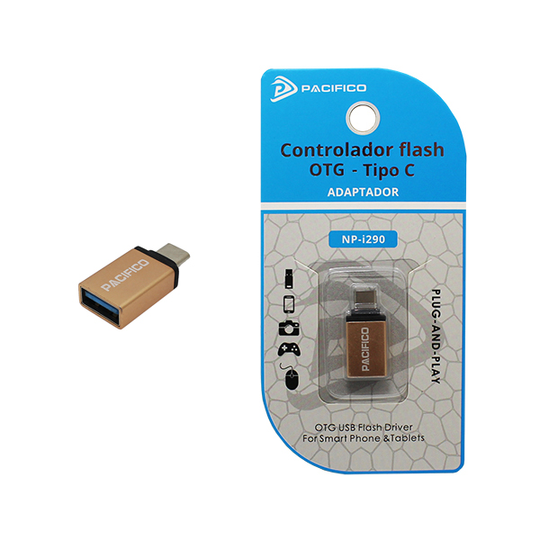 Mini adaptador usb otg – tipo c np-i290 dorado 1