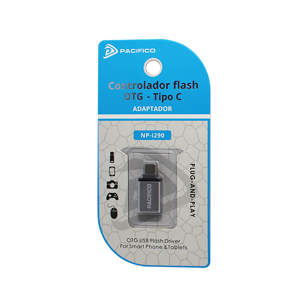 Mini adaptador usb otg – tipo c np-i290 plata 3