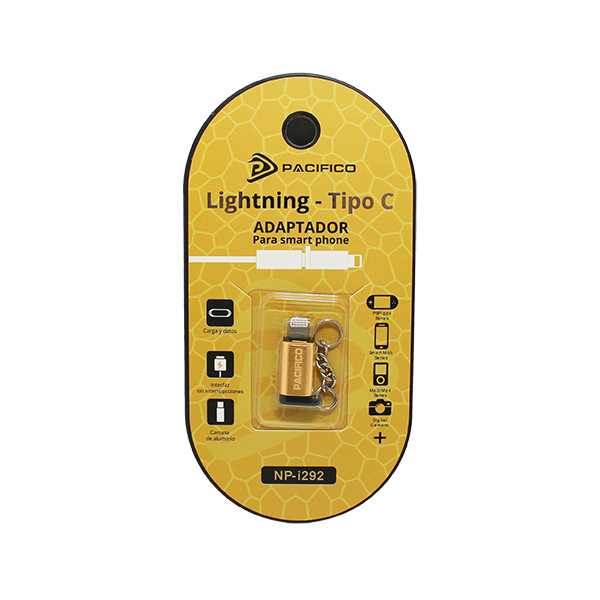 Mini adaptador de tipo c – iphone np-i292 dorado 3