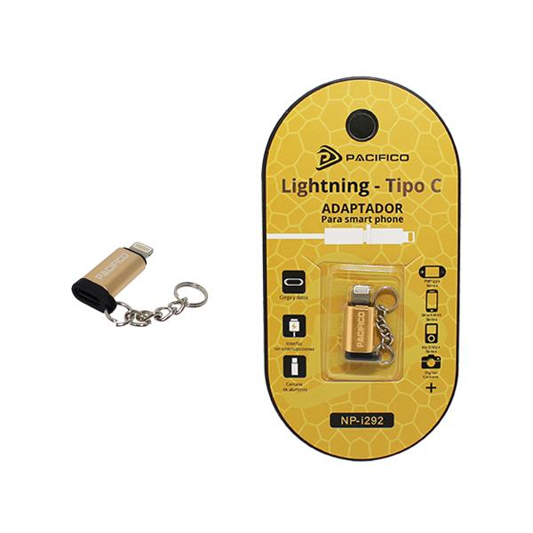 Mini adaptador de tipo c – iphone np-i292 dorado 1