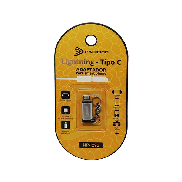 Mini adaptador de tipo c – iphone np-i292 plata 3
