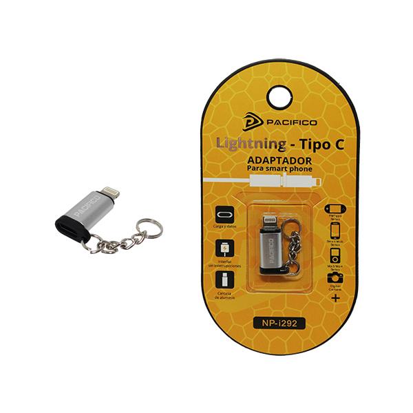 Mini adaptador de tipo c – iphone np-i292 plata 1