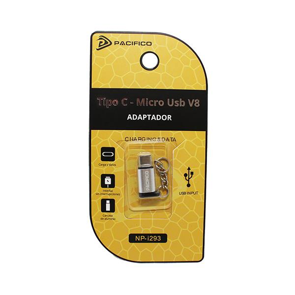 Mini adaptador de micro usb v8 – tipo c np-i293 plata 3