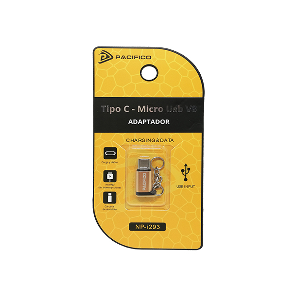 Mini adaptador de micro usb v8 – tipo c np-i293 dorado 3