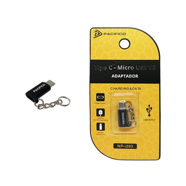 Mini adaptador de micro usb v8 – tipo c np-i293 negro 1