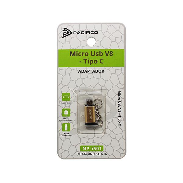 Mini adaptador de tipo c – micro usb np-i501 dorado 3