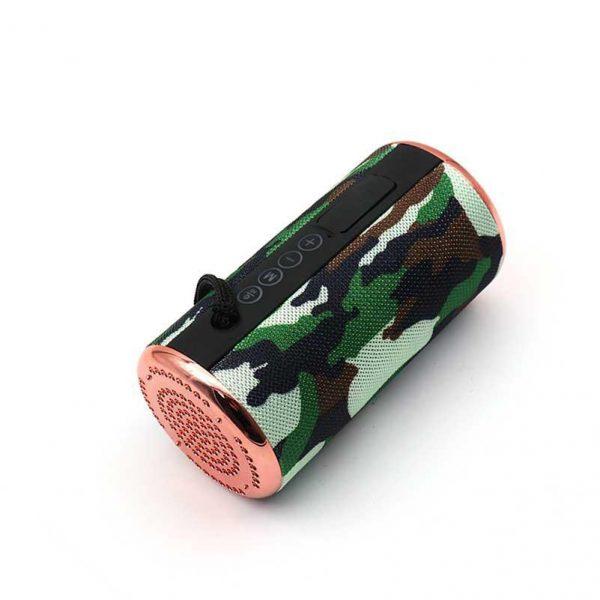 Altavoz bluetooth t&g verde camuflage tg-153 1