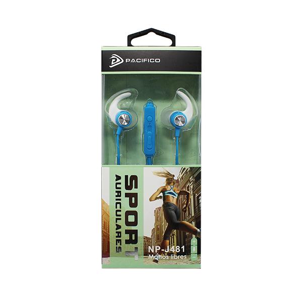 Auriculares deportivos np-j481 azul 2