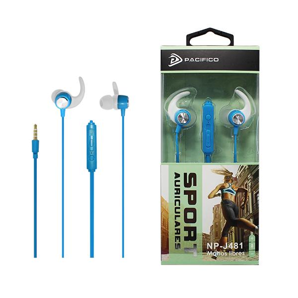 Auriculares deportivos np-j481 azul 1