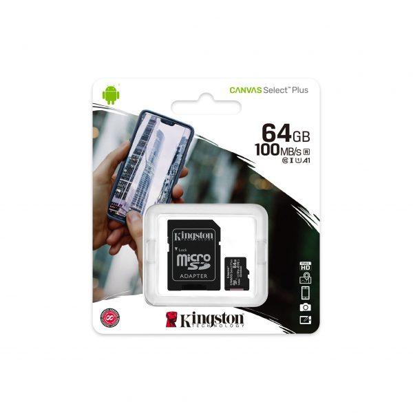 Tarjeta de memoria micro sd 64gb kingston 1