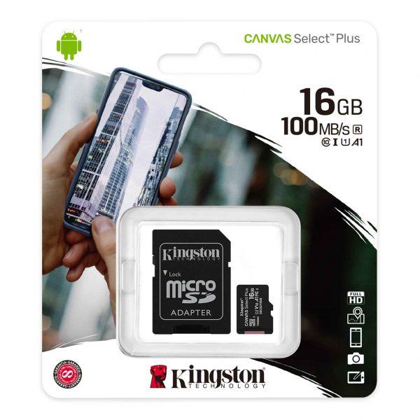 Tarjeta de memoria micro sd 16gb kingston 1