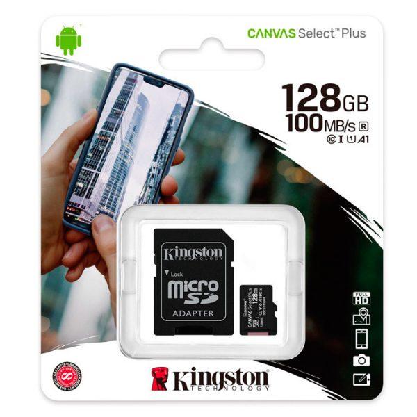 Tarjeta de memoria micro sd 128gb kingston 1