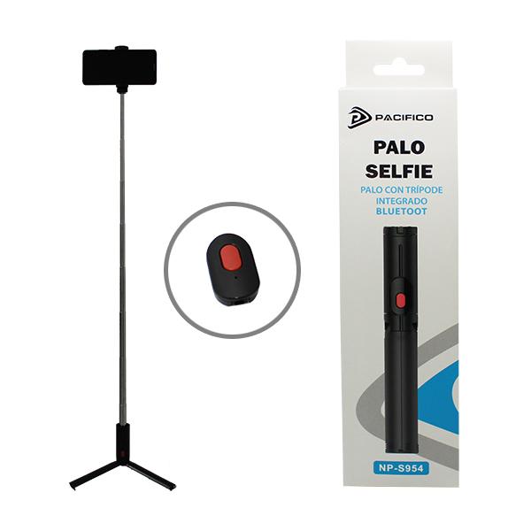 Palo selfie bluetooth con mando y trípode np-s954 1