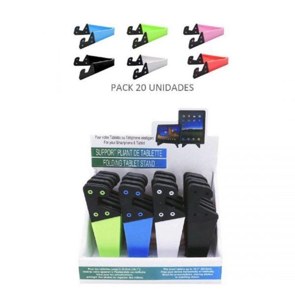 """Pack soporte móvil/tablet """"v"""" colores 20u. 2"""