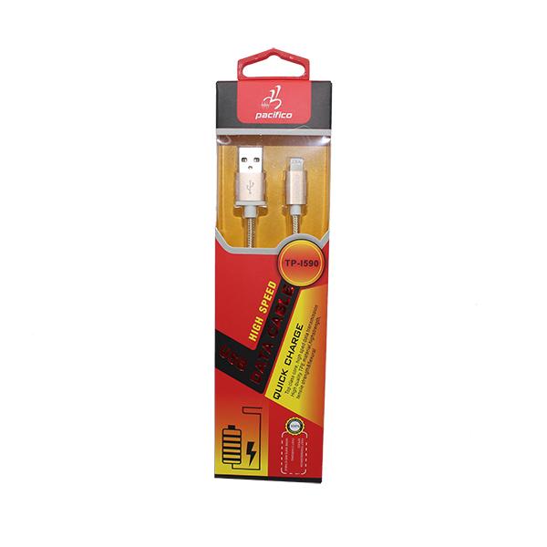 Cable iphone 5-6 rápido – tp-i590 – dorado 2