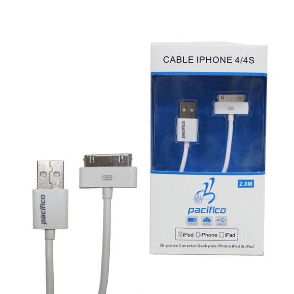 Cable para iphone 4-4s de 2m 1