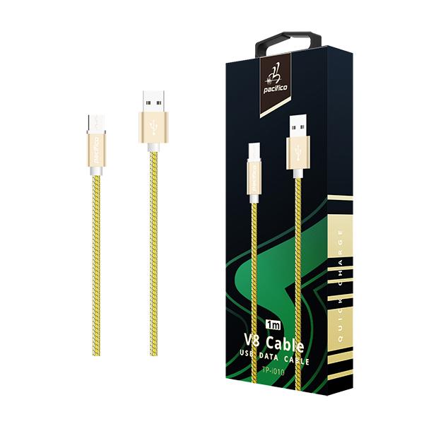 Cable micro usb v8 1m – tp-i010 – amarillo 1