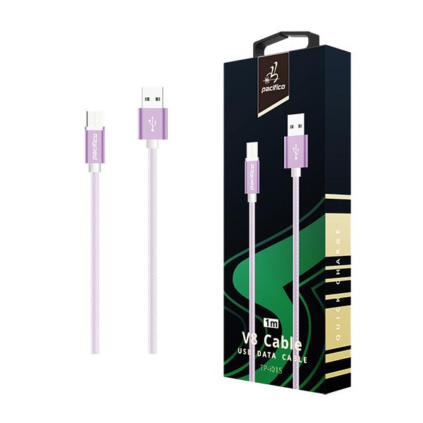 Cable micro usb v8 1m – tp-i015 – morado 1