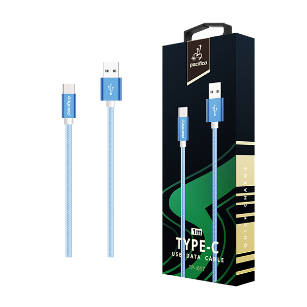 Cable tipo c (3. 1) 1m – tp-i017 – azul 1