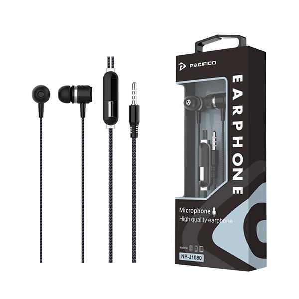 Auriculares con micrófono np-j1080 – negro 1
