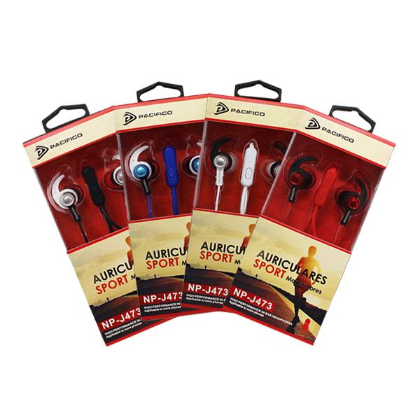Auriculares deportivos np-j473 – paquete 12 uds colores variados 1