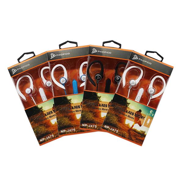 Auriculares deportivos np-j475 – paquete 12 uds colores variados 1