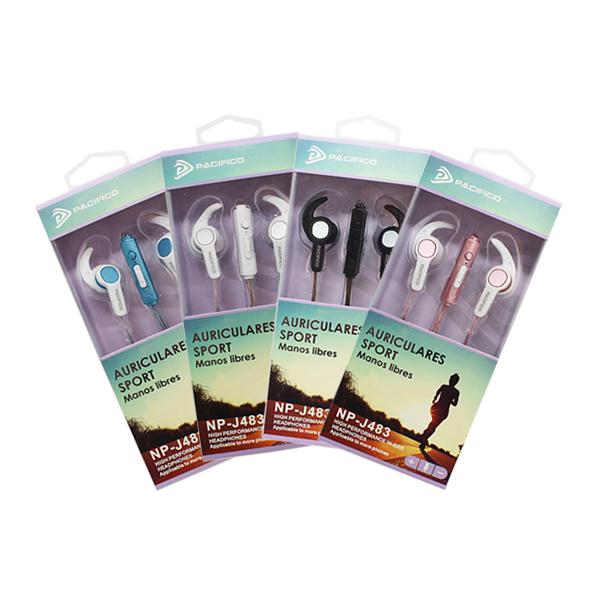 Auriculares deportivos np-j483 – paquete 12 uds colores variados 1