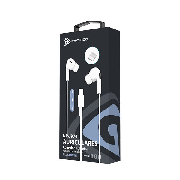 Auriculares con conector lightning iphone np-j974 2