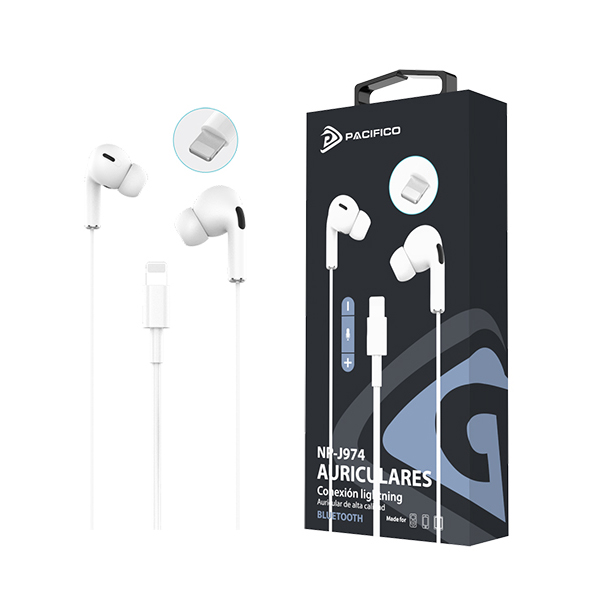 Auriculares con conector lightning iphone np-j974 1