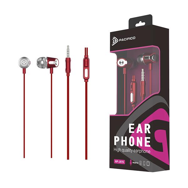 Auriculares con micrófono 1. 2m np-j976 rojo 1