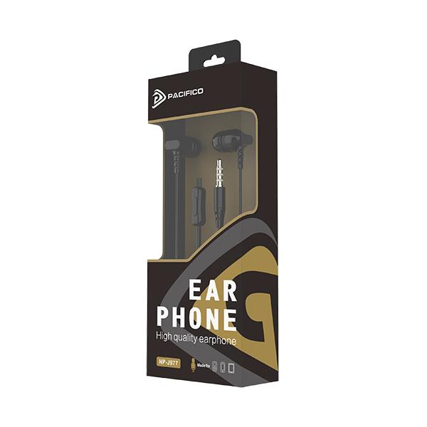 Auriculares con micrófono np-j977 negro 2