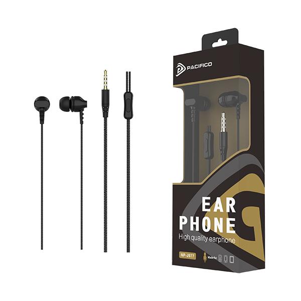 Auriculares con micrófono np-j977 negro 1