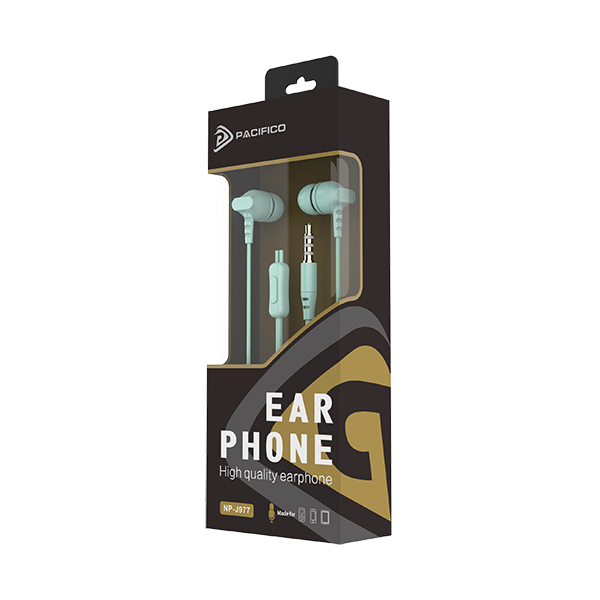Auriculares con micrófono np-j977 verde 3