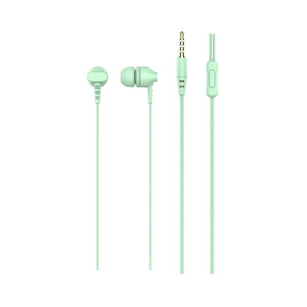 Auriculares con micrófono np-j977 verde 2