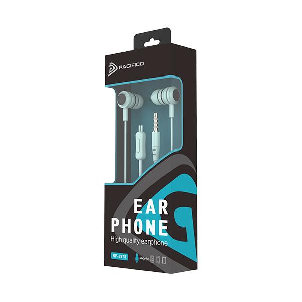 Auriculares con micrófono np-j978 azul 3