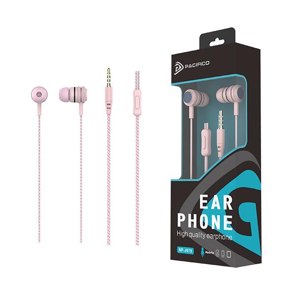 Auriculares con micrófono np-j978 rosa 1