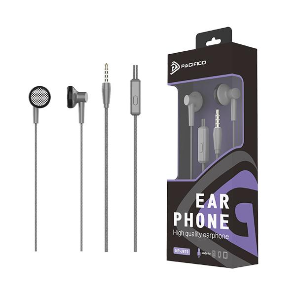 Auriculares con micrófono np-j979 gris 1