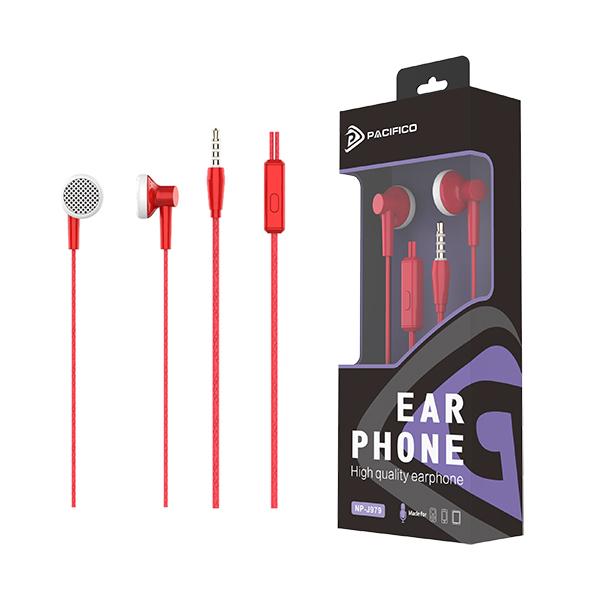 Auriculares con micrófono np-j979 rojo 1
